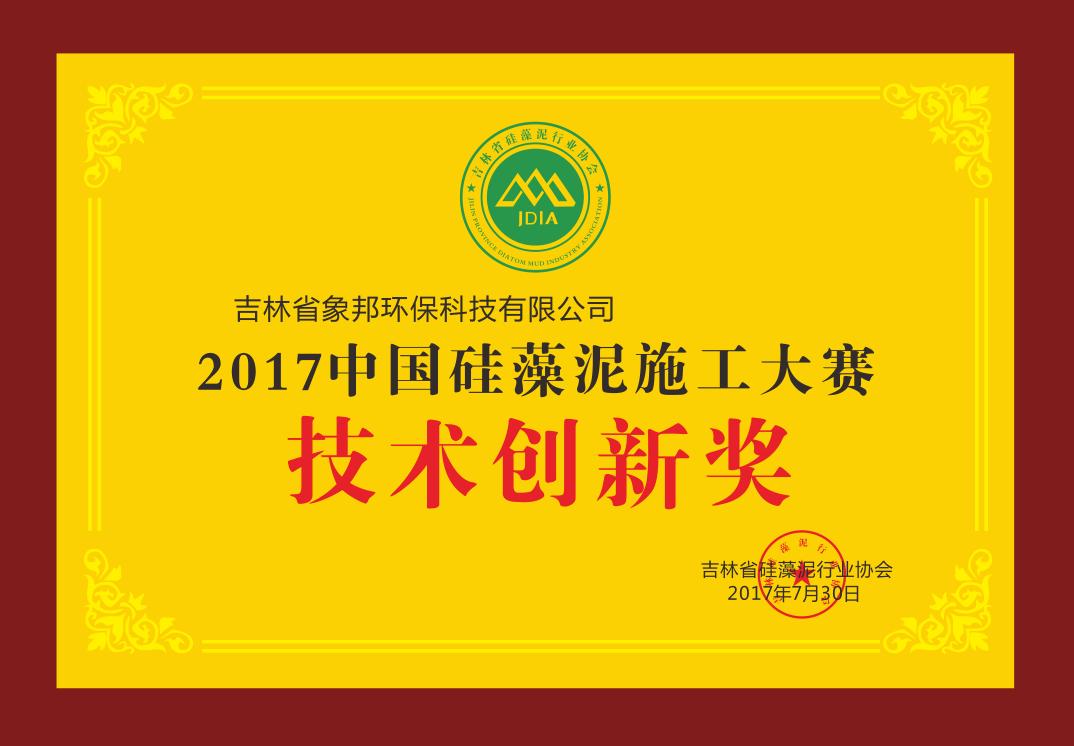 硅藻泥施工大赛技术创新奖