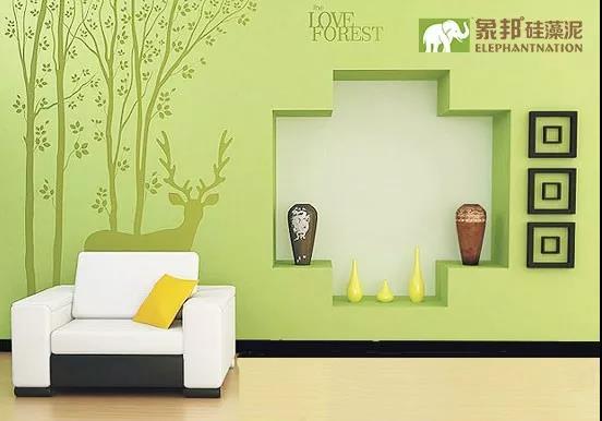 田园风格背景墙装修好效果就选象邦硅藻泥