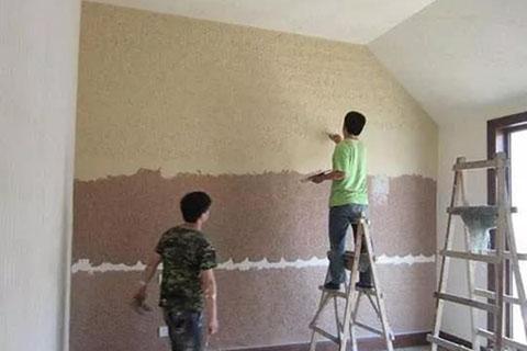 硅藻泥墙面施工