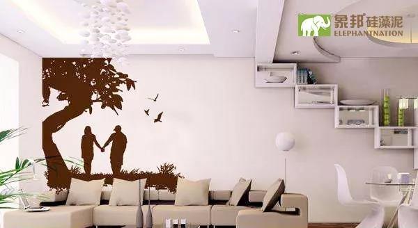 硅藻泥背景墙正流行,你还在挂装饰画&婚纱照吗?