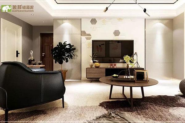 客厅用什么颜色象邦硅藻泥