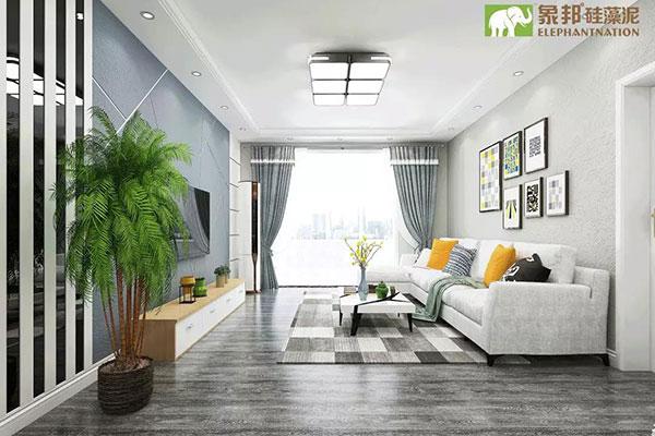 硅藻泥现代抽缝背景墙