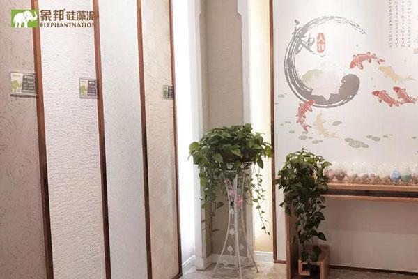 硅藻泥店面肌理墙照片
