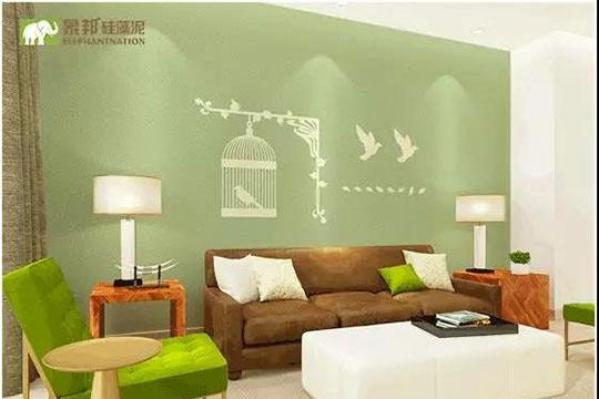 硅藻泥沙发背景墙搭配