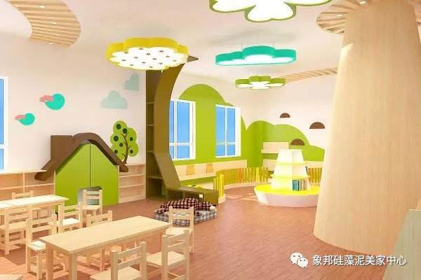象邦硅藻泥装修幼儿园效果图
